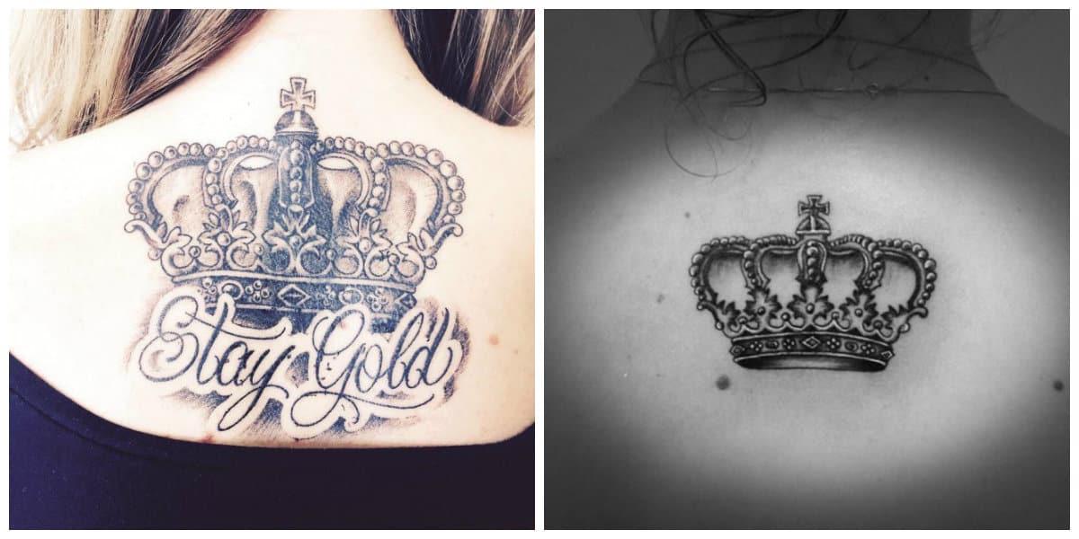 Coronas tatuajes - usado tanto entre hombres como las mujeres