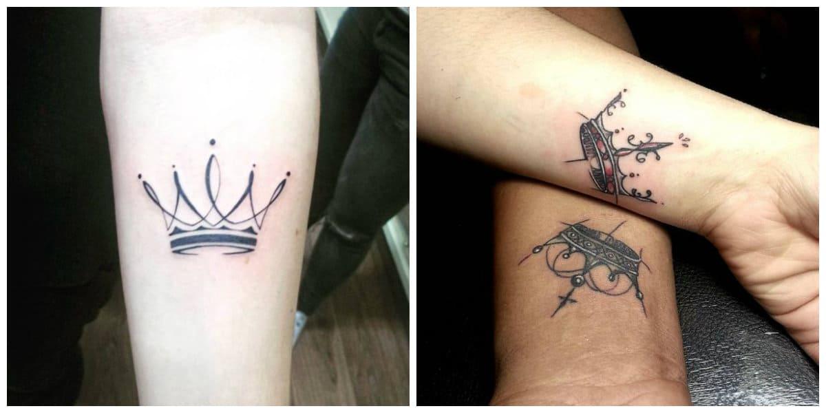 Coronas tatuajes - se puede hacer por la pareja perfecta