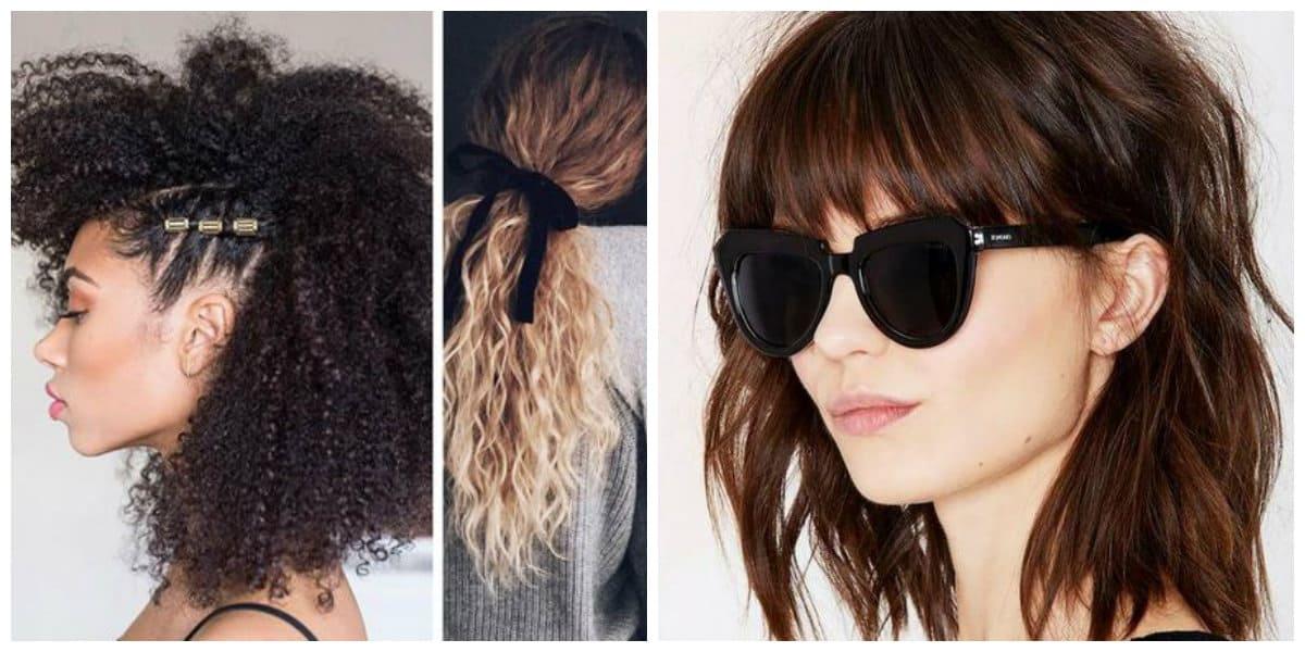 Cortes de cabello largo 2020- rizas y flequillos de moda