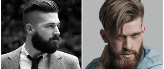 Cortes de pelo hombre 2018- barbas combinadas con pelo reocrtado