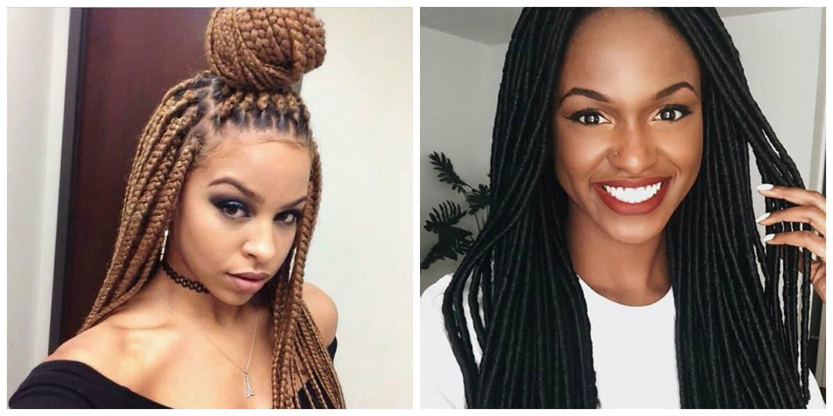 Cortes de pelo para mujer 2018- trenzas africanas muy de moda