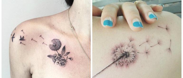 Diente de leon tatuaje- los suenos se hacen realidas con este tatuaje