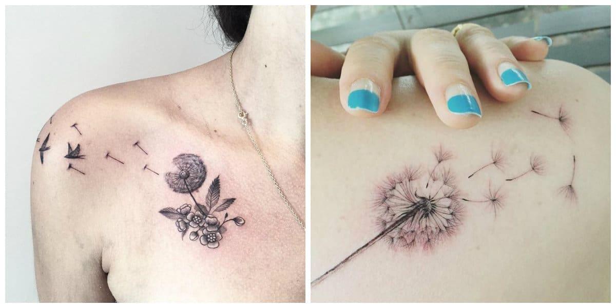 Diente De Leon Tatuaje Lindos Tatuajes De Dientes De León Para