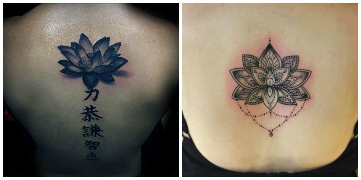 Flor de loto tatuaje- imagenes impresionantes para las hcicas