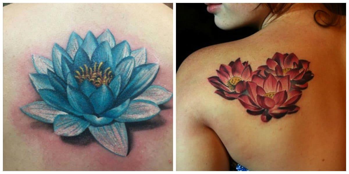 Flor de loto tatuaje- fotos que rpresentan las tendencias modernas