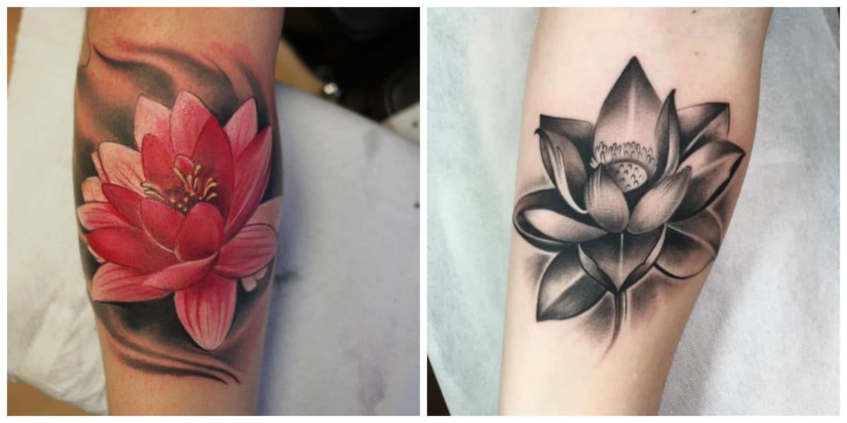 Flor de loto tatuaje- interesantes ideas para las chicas modernas