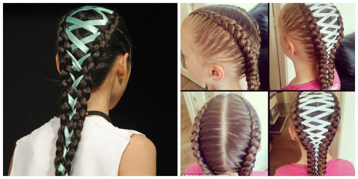 Peinados con trenzas- peinados interesantes para chicas y ninas