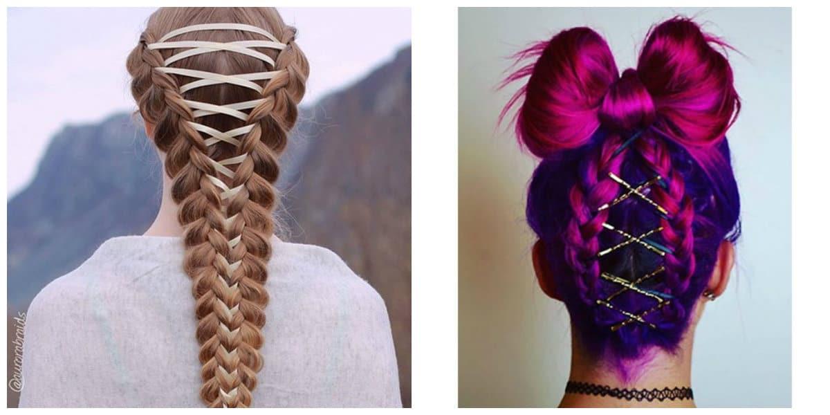Peinados con trenzas- aplicable para todo color de cabello