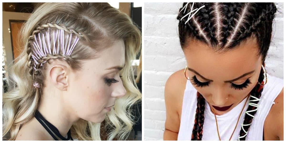 Peinados con trenzas- se puede aplicar tanto a pelo largo como mediano