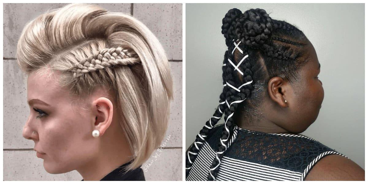 Peinados con trenzas- interesantes ideas para la fiesta de moda