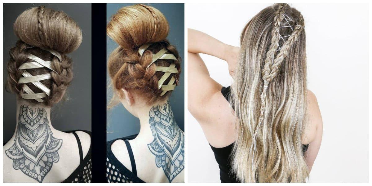 Peinados con trenzas- para pelo suelto asi como viceversa