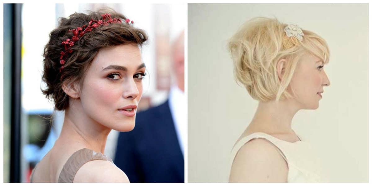 Peinados cortos 2020- accesorios que su usan con los peinados