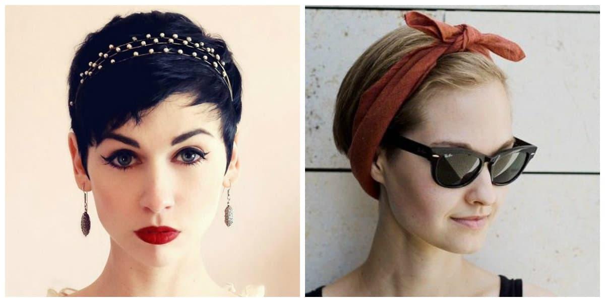 Peinados cortos 2020- accesorios actuales para el pelo corto