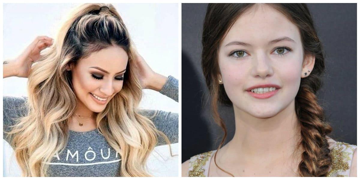 Peinados de jovenes 2020- pelo suelto y trenzado muy de moda