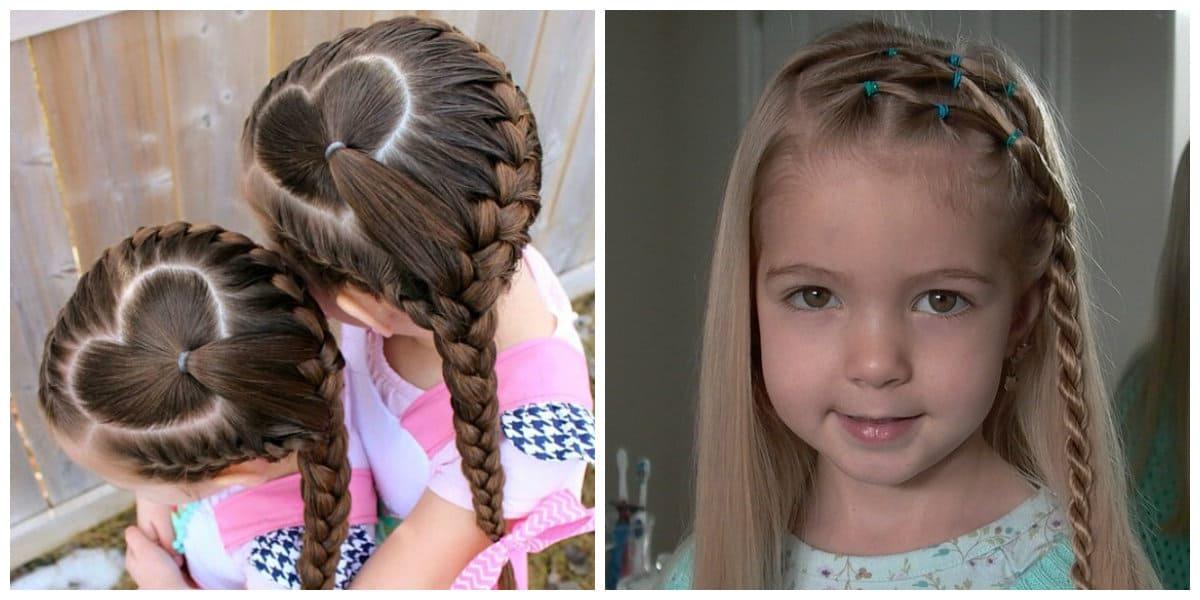 Peinados fáciles para niñas- diversidad de trenzas para las pequenas