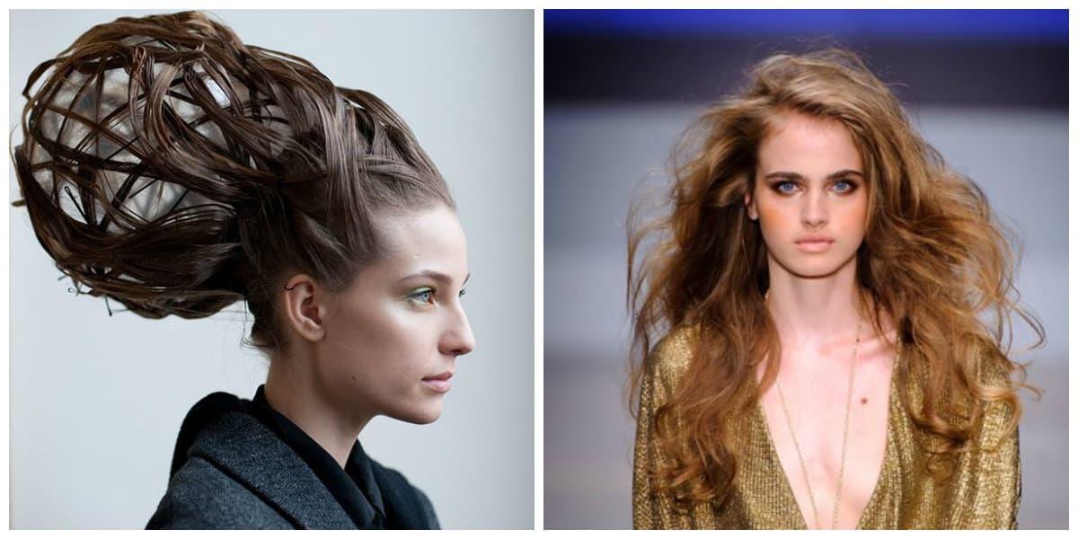 Peinados modernos 2020- cabello suelto y peinado no ordinario