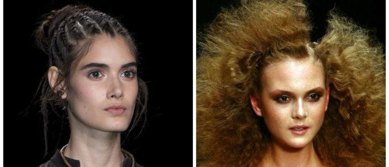 Peinados modernos 2018- trenzas y pelo suleto muy rico de moda