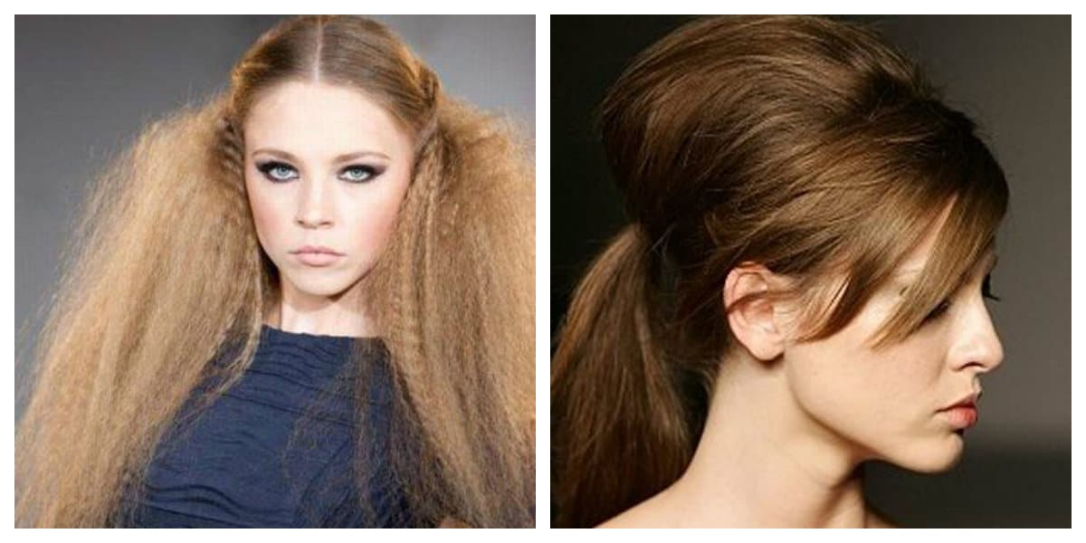 Peinados modernos 2020- pelo en cola de caballo y suelto