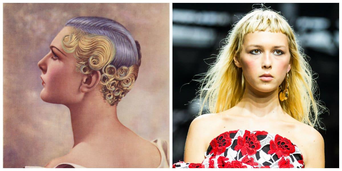 Peinados modernos 2020- moda de los anos 60 para diosas