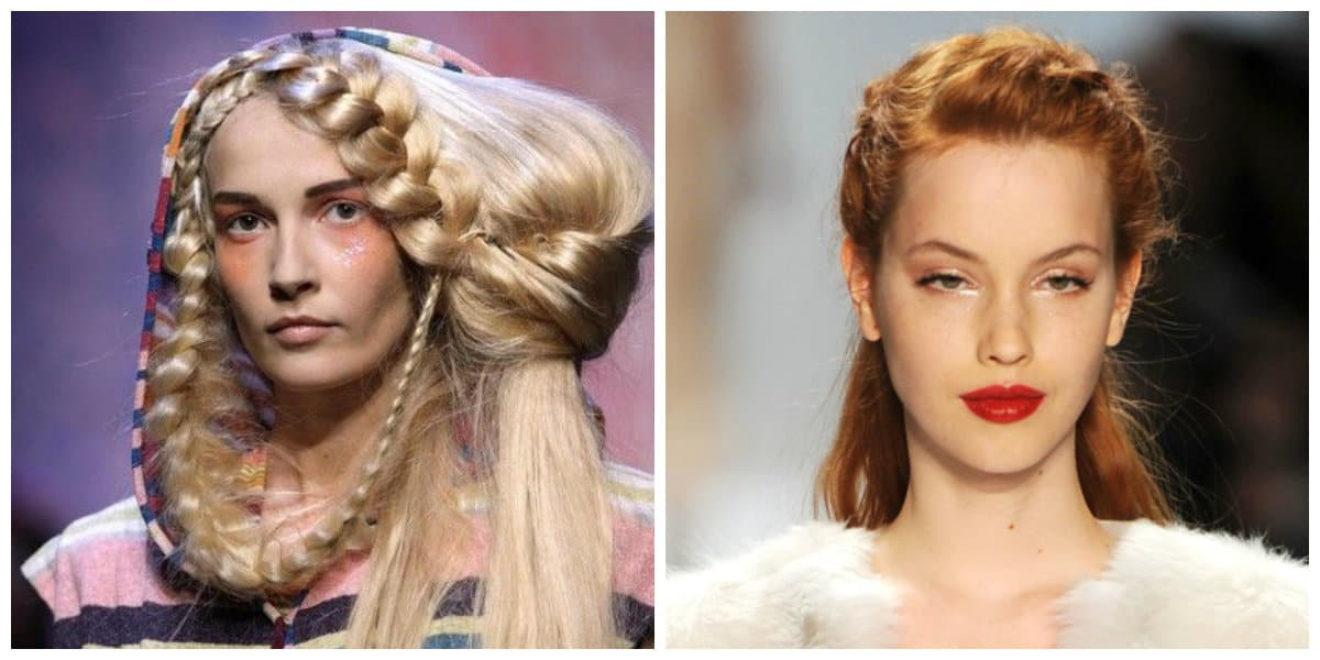 Peinados modernos 2020- trenzas desde los fashion shows