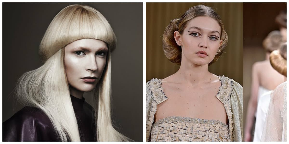 Peinados modernos 2020- flequillo no ordinario de moda