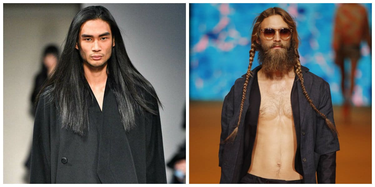 Peinados para hombres 2020- pelo largo y trenzas para hombres