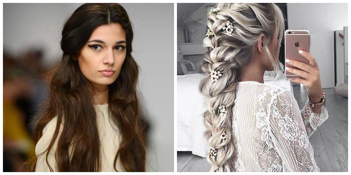 Peinados para pelo largo- trenzas modernas y simple rectamiento de pelo largo