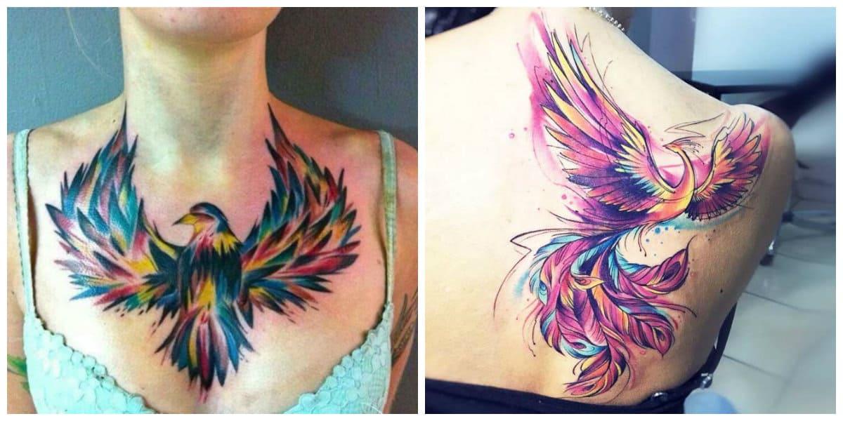 Phoenix tatuaje- las chicas prefieren ponerlo sobre la espalda