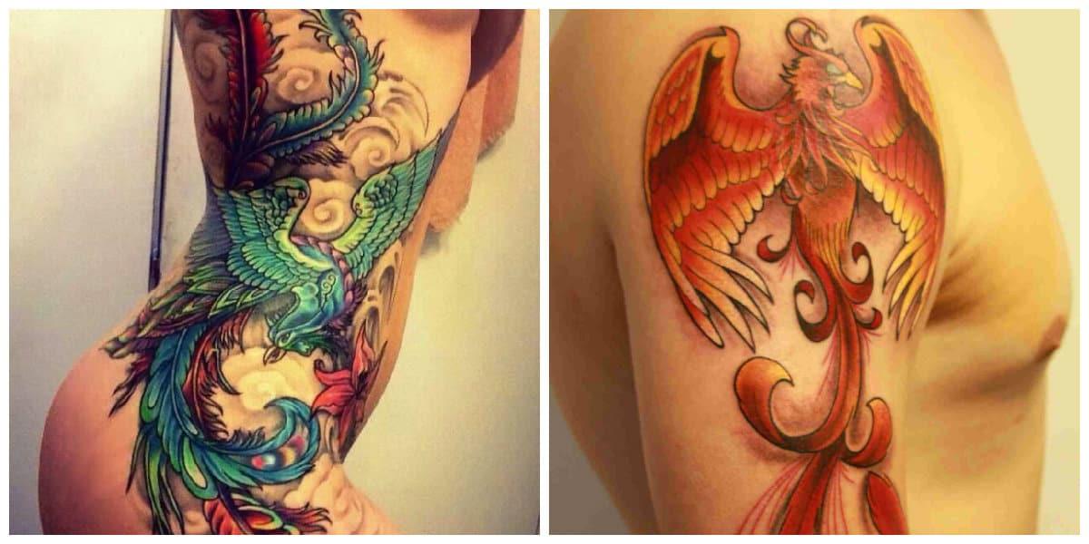 Phoenix tatuaje- e tamano de tu tatuaje depende de tu gusto