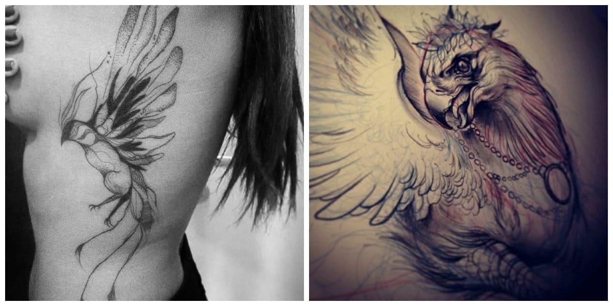 Phoenix tatuaje- tambien existen modelos en color negro delicado