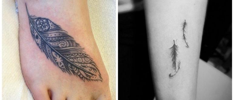 Plumas para tatuajes- piernas y brazos, asi como espalda son lugares adecuados