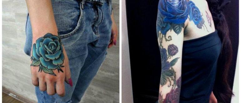 Rosa azul tatuaje- mejores ideas representadas en nuestro serie de fotos