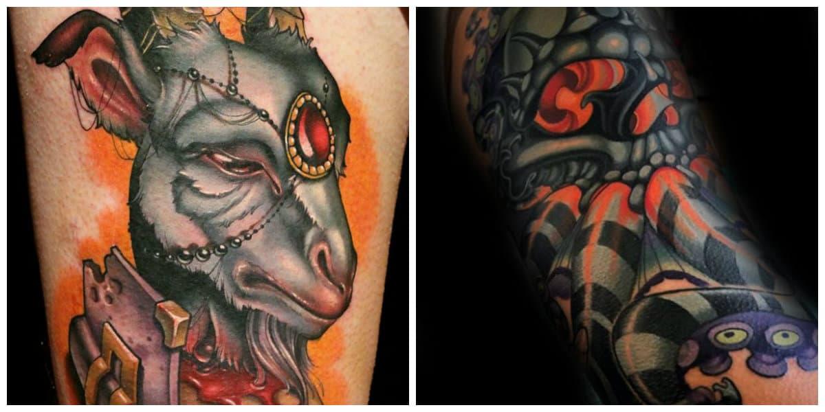 Tattoo nueva escuela- imagenes sacados de diferentes cuentos