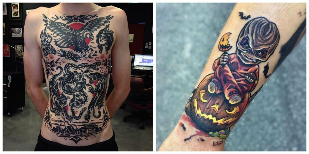 Tattoo nueva escuela- por toda la espalda o prte del brazo de moda