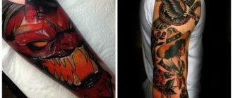 Tattoo nueva escuela- coloracion de los nuevos tatuajes de moda