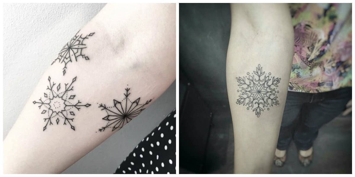 Tatuaje copo de nieve- mejores ejemplos para las amantes de tatuajes