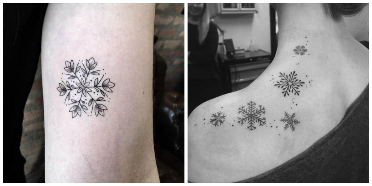 Tatuaje copo de nieve- mejores opciones para las chicas y mujeres de moda