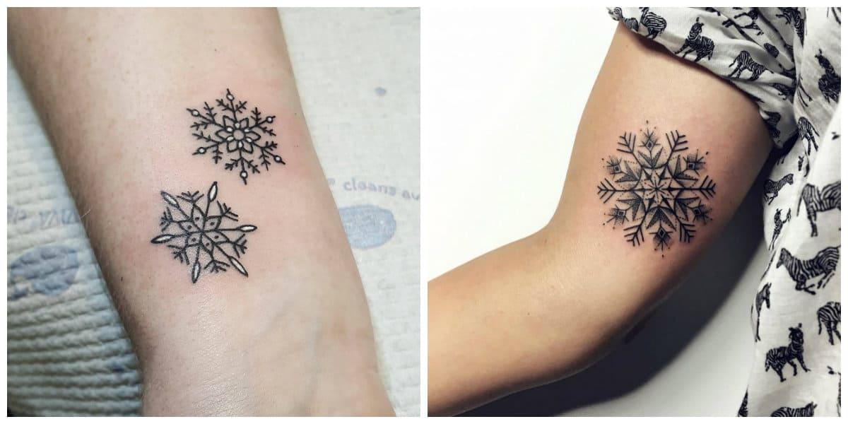 Tatuaje Copo De Nieve Corrientes Interesantes Para Chicas Modernas
