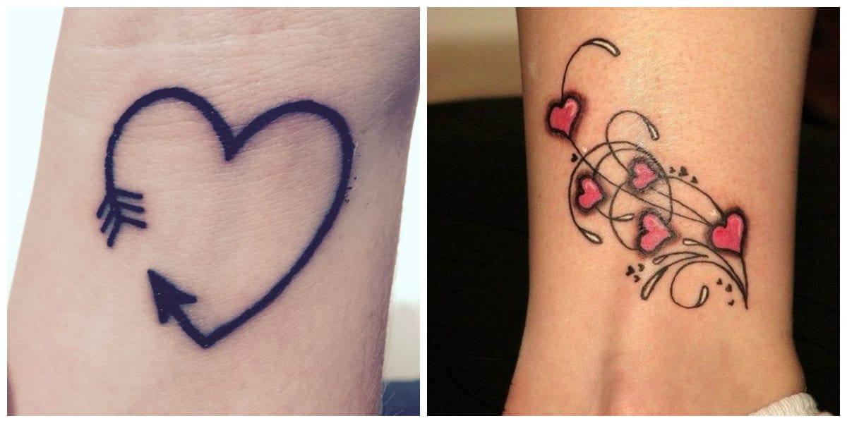Tatuaje corazón- todas las tendencias principales en uso