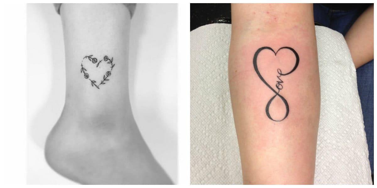 Tatuaje corazón- simples opciones en minimalismo