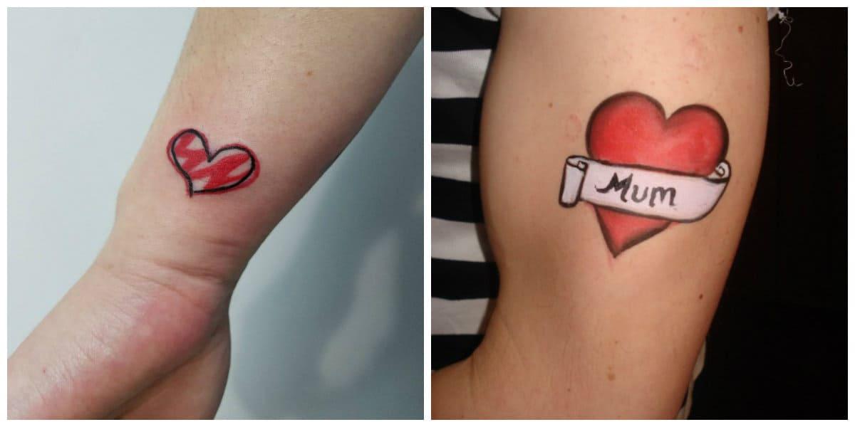 Tatuaje corazón- como signo de amor y pasion por vida y familia
