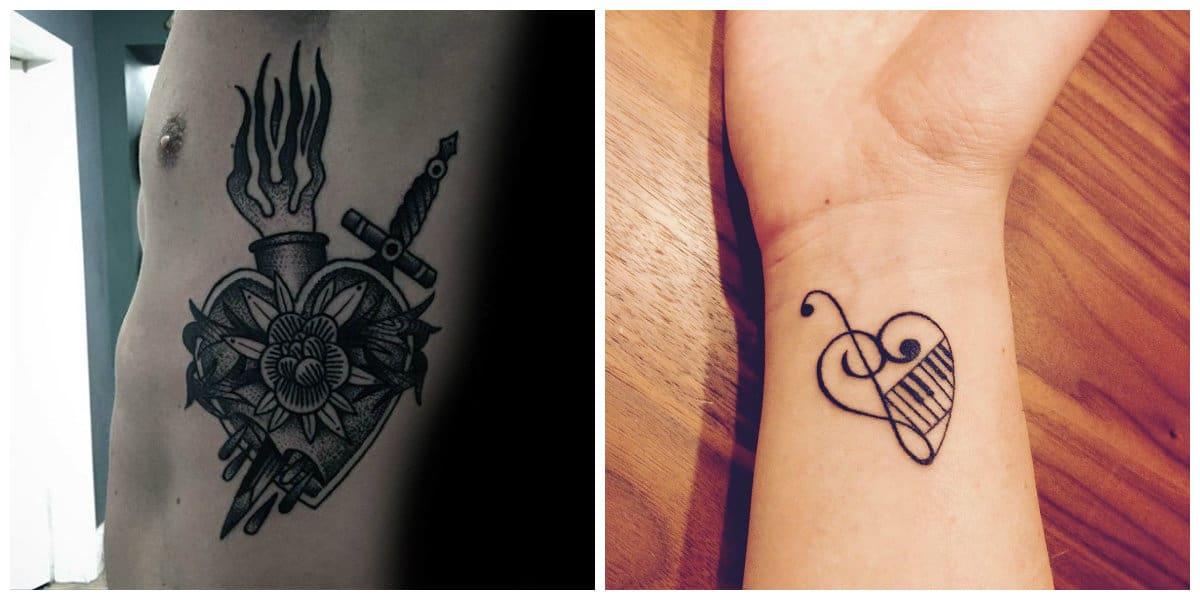 Tatuaje corazón- populares ideas entre hombres y mujeres