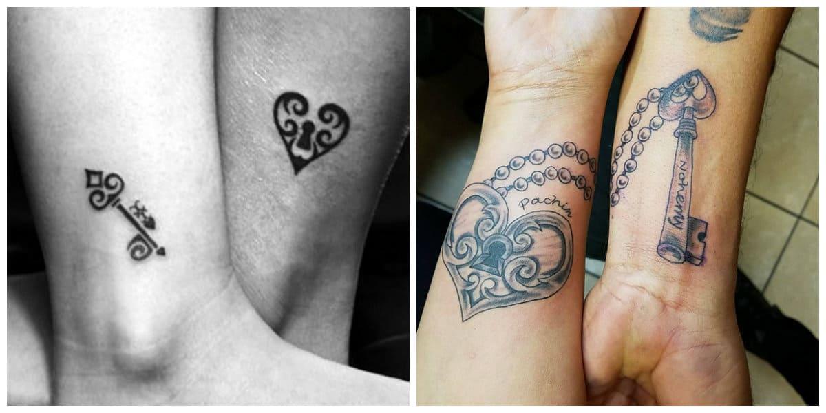 Tatuaje llave- son ideal para las parejas asi como hermanos