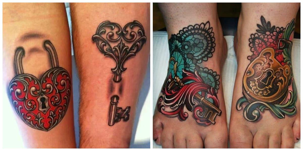 Tatuaje llave- se hacen principalemente sobre brazos, a veces en piernas