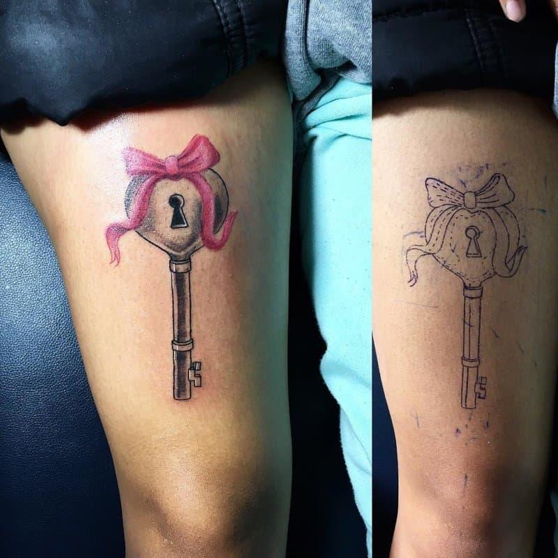 Tatuaje-llave-Combinación-de-los-diseños-del-tatuaje-llave-y-cerradura-para-todos