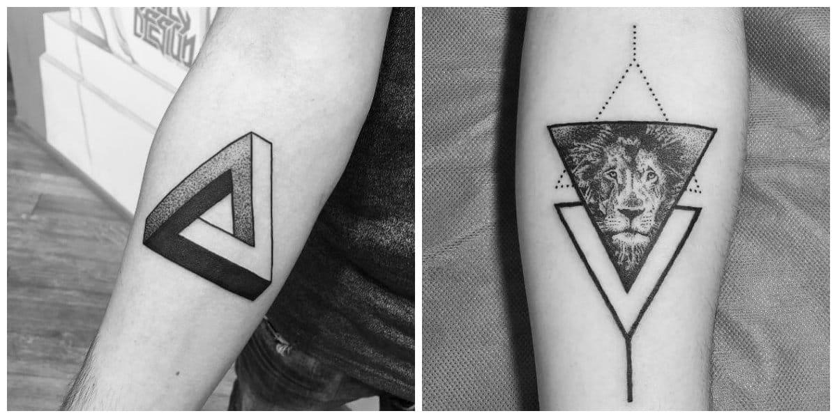 Tatuaje triangulo- formas triangulares para hombres y mujeres