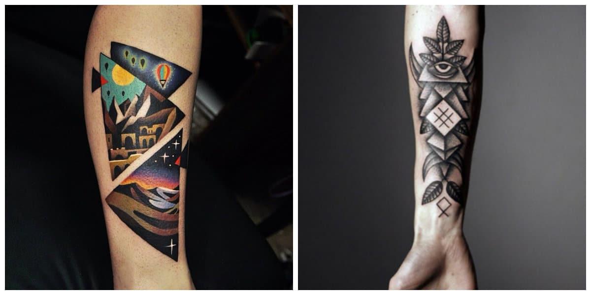 Tatuaje triangulo- coloracion y diseno de tatuajes en form de triangulo