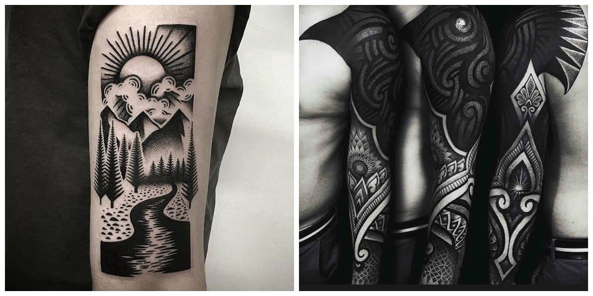 Tatuajes blackwork- todas las tendencias principales en uso