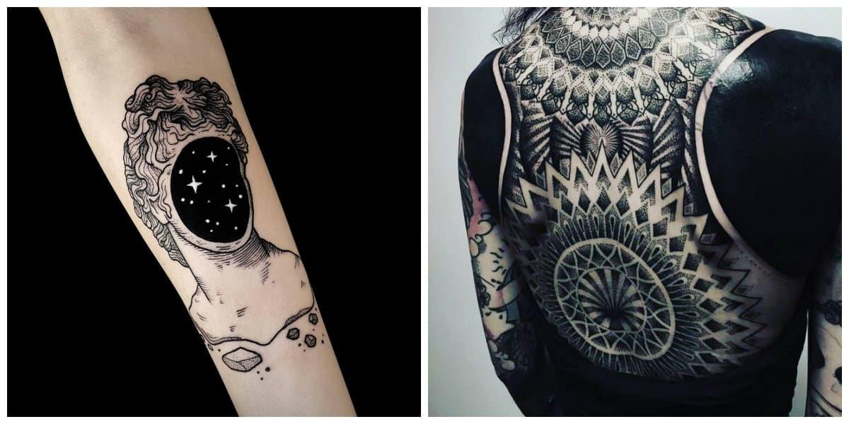 Tatuajes blackwork- algunas ideas para chicos y chicas