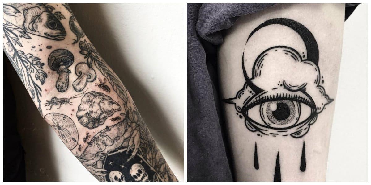 Tatuajes blackwork- algunas imagenes muy usados en tatuajes blackwork